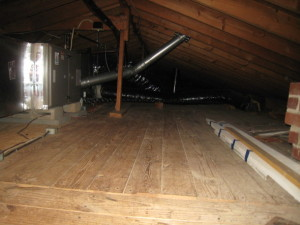 See. Our attic is really empty.