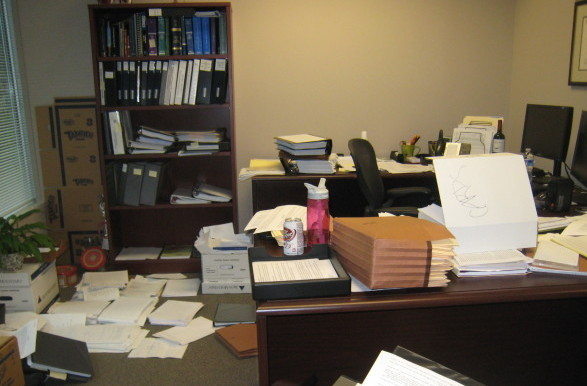 Corporate office before I helped client get organized.